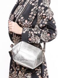 Çanta - Platin - Pembe Potin