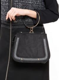 Çanta - Siyah - Pembe Potin