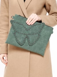 Çanta - Yeşil - Pembe Potin