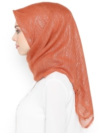 Orange - Tan - Plain - Scarf