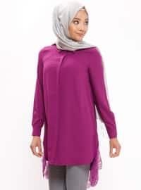 Purple - Point Collar - Tunic