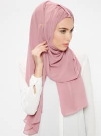 Pink - Plain - Pinless - Instant Scarf