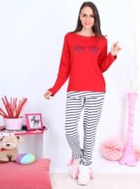 Pijama - Kırmızı - Meliana