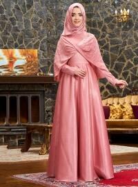Elsa Abiye Elbise - Pudra - Mevra