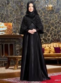 Mevra Elsa Abiye Elbise - Siyah - Mevra