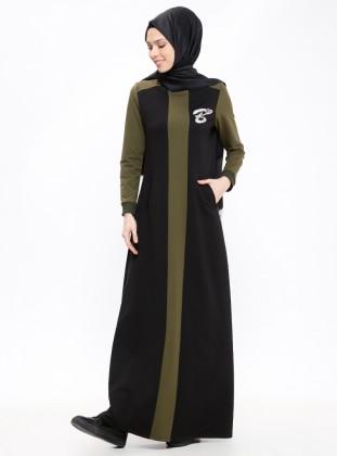 85b00b954 أسود - كاكي - قبة مدورة - نسيج غير مبطن - فستان