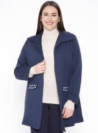 İnci Detaylı Ceket - Lacivert - NZL