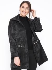İnci Detaylı Ceket - Siyah - NZL