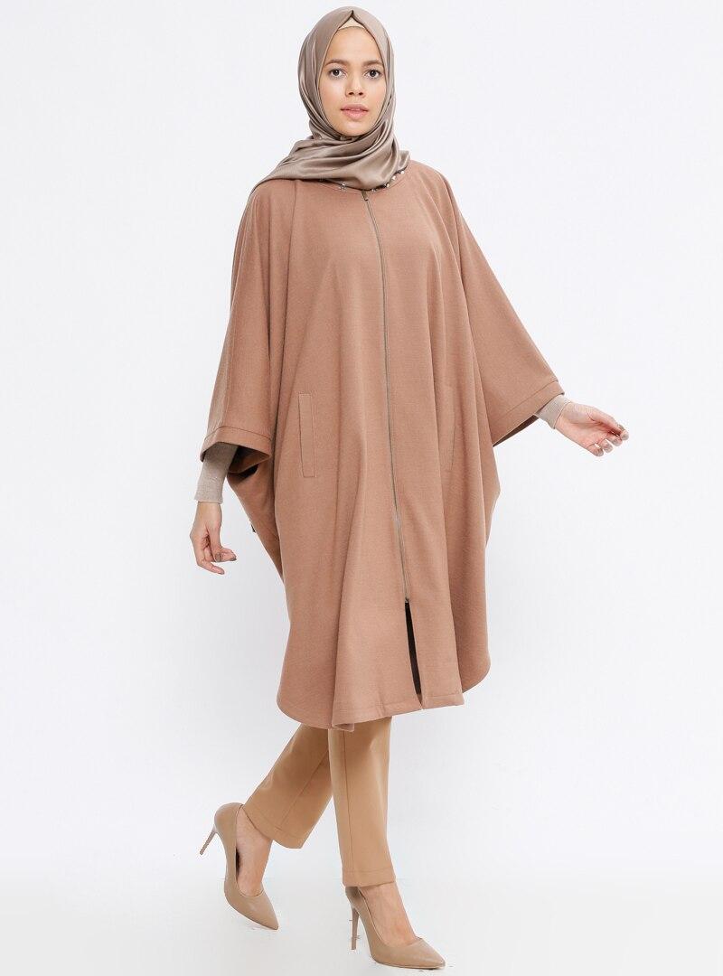 Tesettür Panço TUĞBA Camel Kadın 38