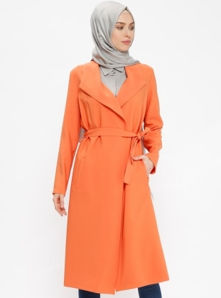 Orange - Unlined - Shawl Collar - Topcoat