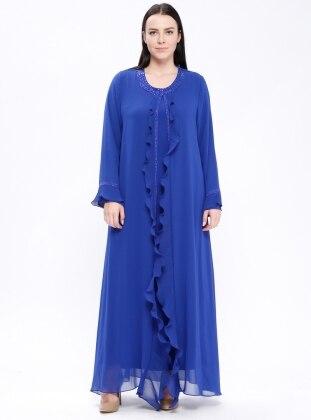 679916c898951 Saxe - Unlined - Crew neck - Muslim Plus Size Evening Dress