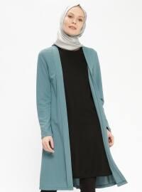 Ceket Görünümlü Tunik - Mint Yeşili - Miss Paye