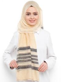 Yellow - Striped - Shawl