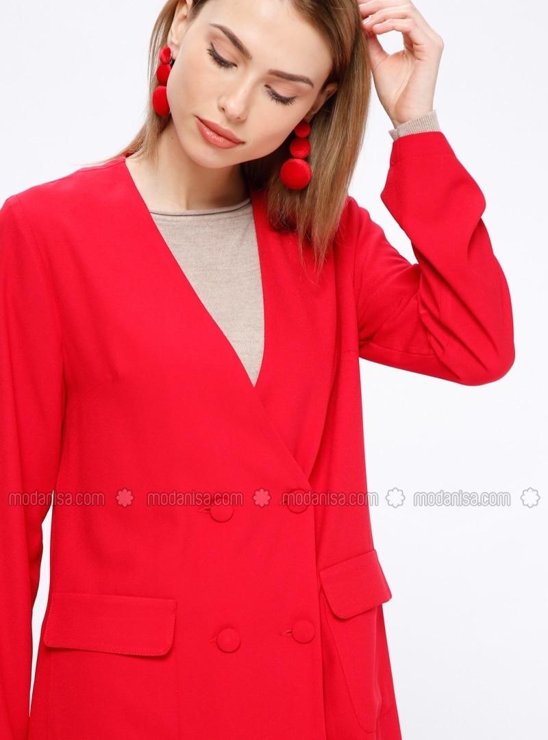 bb9341b2b53 ... V neck Collar - Jacket. Fotoğrafı büyütmek için tıklayın