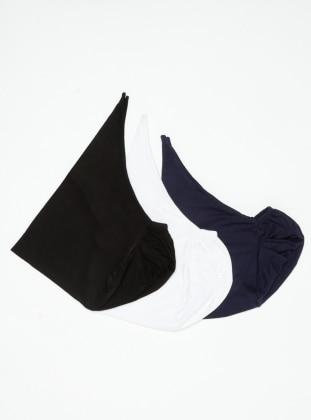 Black - White - Navy Blue - Lace up - Viscose - Bonnet