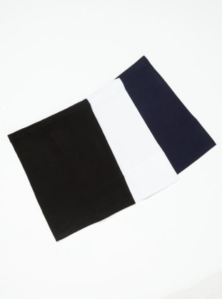 Black - White - Navy Blue - Simple - Viscose - Bonnet