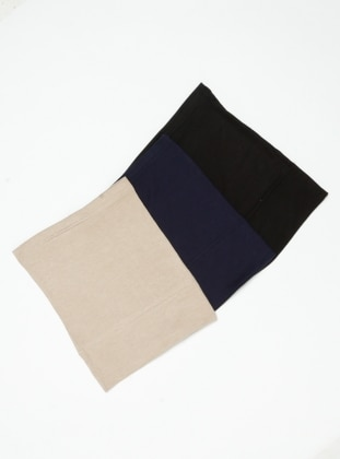 Black - Navy Blue - Minc - Simple - Viscose - Bonnet - Ecardin