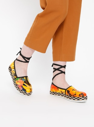 Blue - Yellow - Flat - Casual - Shoes
