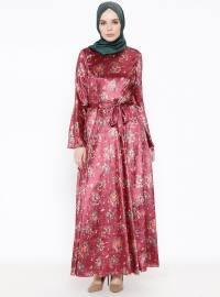 Kadife Elbise - Kırmızı - LEILA