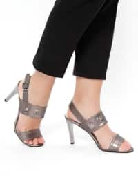 Gray - High Heel - Shoes