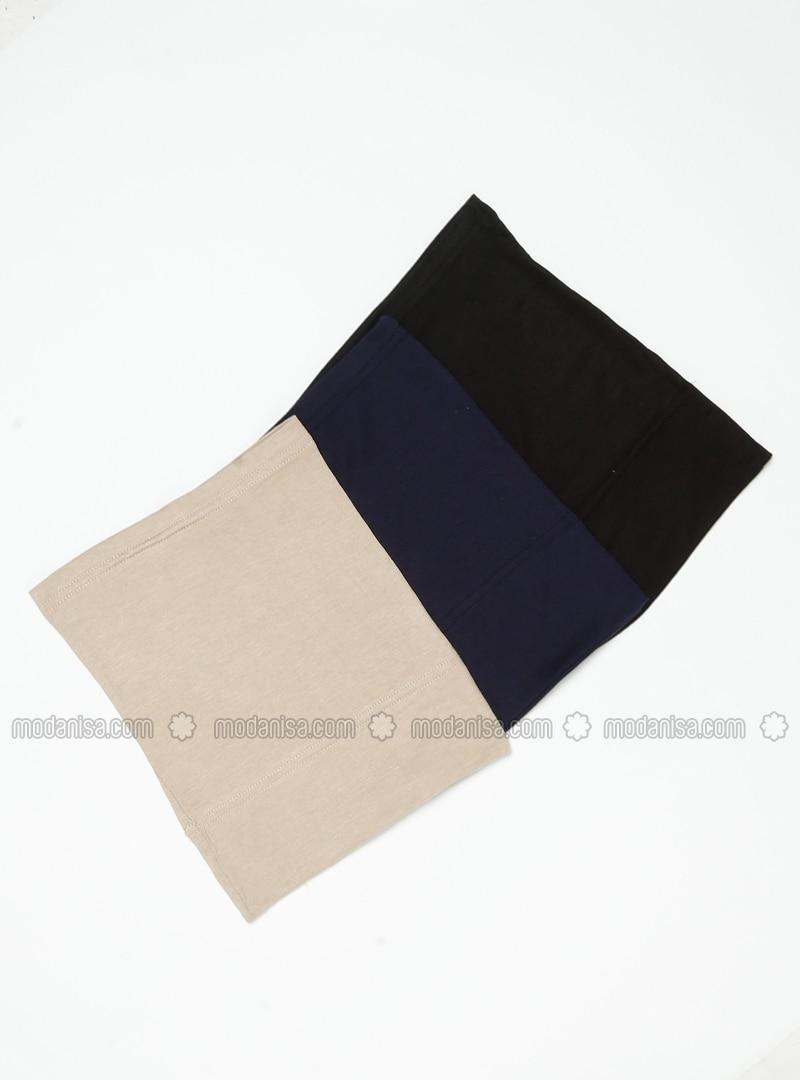 Black - Navy Blue - Minc - Simple - Viscose - Bonnet