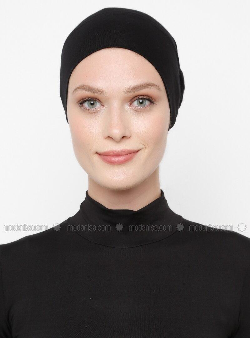 Black - Simple - Viscose - Bonnet