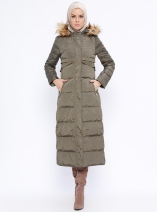 Khaki - Zebra - Fully Lined - Coat