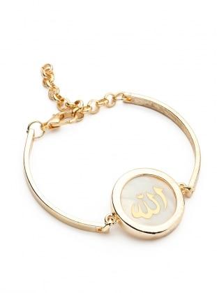Gold - Ecru - Gold - Bracelet - Modex