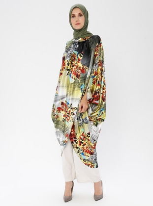 Green - Multi - Crew neck - Tunic