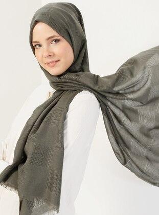 Black - Khaki - Plain - Shawl