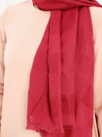 Red - Pink - Plain - Shawl