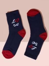 Mim çorap Havlu Kısa Konç Tekli Çorap - Lacivert - Mim çorap