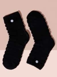 Mim çorap Havlu Kısa Konç Tekli Çorap - Siyah - Mim çorap