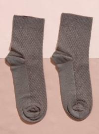 Kısa Konç Bambu Tekli Çorap - Toprak - Mim çorap