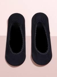 Tekli Babet Çorap - Siyah - Mim çorap