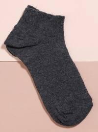 Tekli Patik Çorap - Koyu Gri - Mim çorap