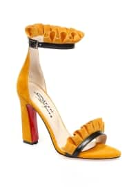 Topuklu Ayakkabı - Hardal - Sitill