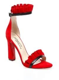 Topuklu Ayakkabı - Kırmızı - Sitill