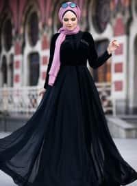 Latife Elbise - Siyah - Muslima Wear