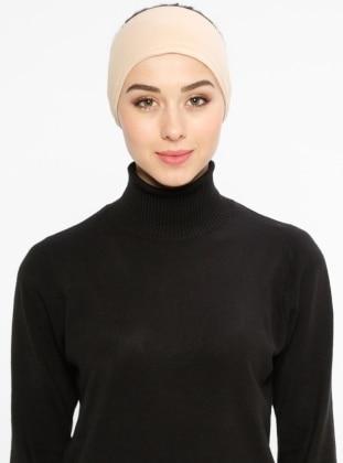 Beige - Viscose - Bonnet