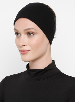 Black - Viscose - Bonnet - Ecardin