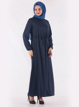 Navy Blue - Crew neck - Unlined - Dresses - Mileny 397193