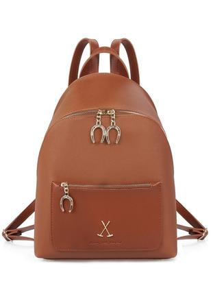 Tan - Backpack - Bag