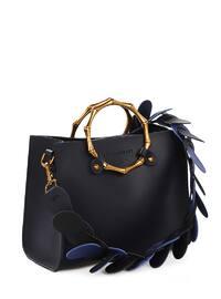 Navy Blue - Satchel - Crossbody - Bag