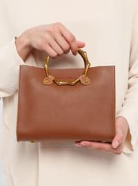Tan - Satchel - Crossbody - Bag