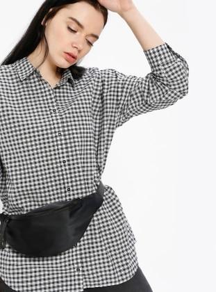 Pötikareli Gömlek - Siyah - Koton Ürün Resmi