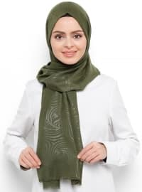 Green - Khaki - Printed - Shawl