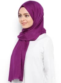 Purple - Printed - Shawl