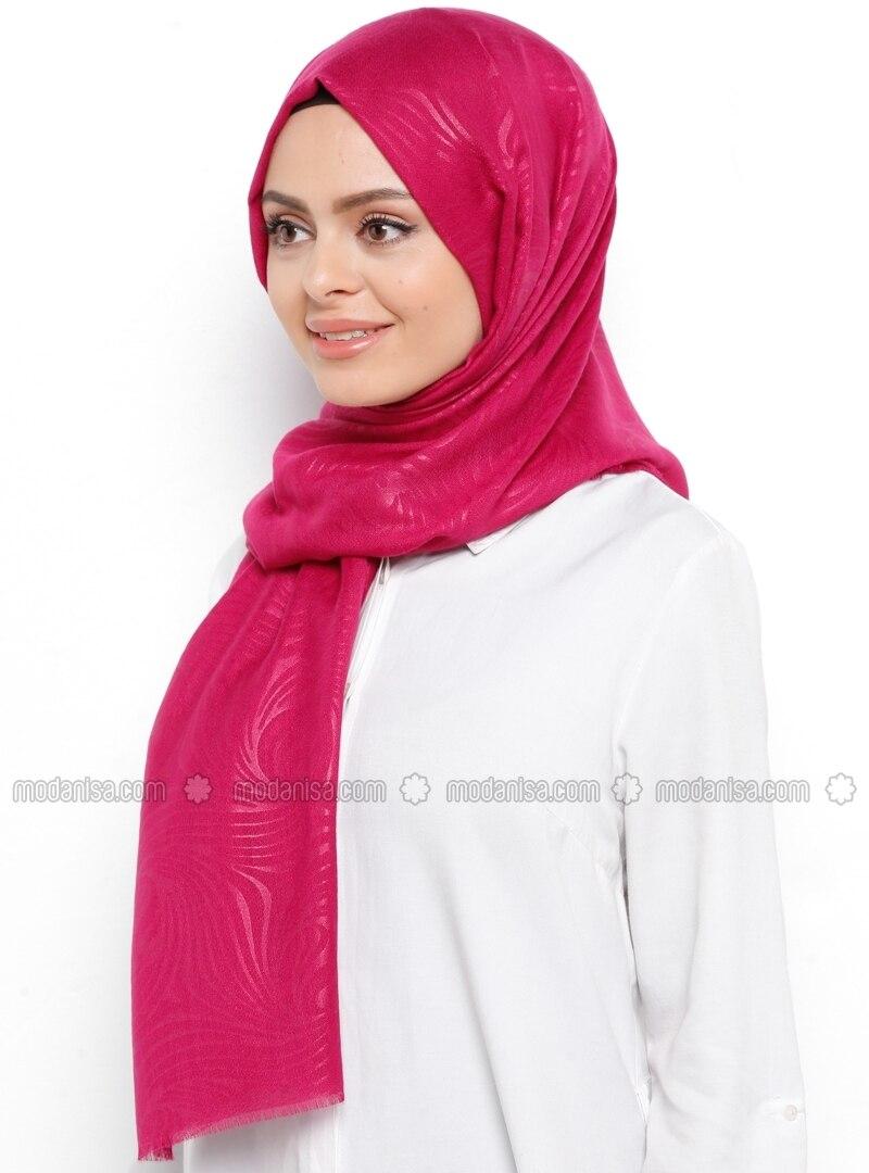 Pink - Printed - Shawl