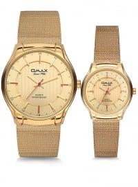 İkili Saat Set - Gold - Omax